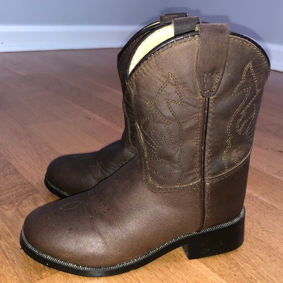 Brown Leather Cowboy Boots | Poshmark
